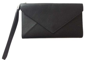 Delvaux Leather Black Clutch