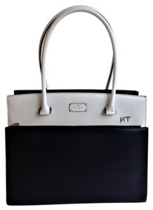 Kate Spade Two-tone And White Tote in Black / Cement