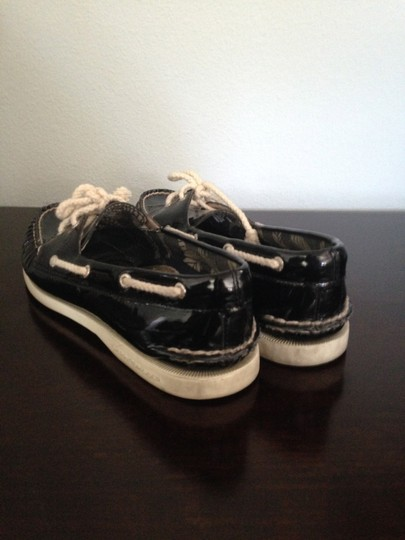 Sperry Black Patent Leather Flats