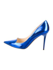 Jimmy Choo Metallic Blue Pumps