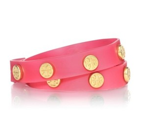 Tory Burch NWT Pink Jelly Double Wrap Bracelet