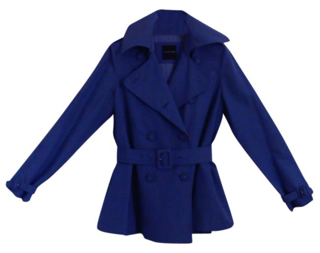 Item - Royal Blue Silk-blend Double Breasted Coat Size 4 (S)