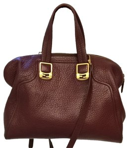 Fendi Leather Chic Satchel in Brown