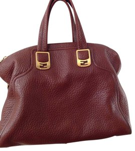 Fendi Leather Chic Price Just Reduced! Crossbody Strap Satchel in Brown