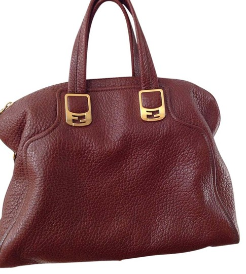 Fendi Leather Chic Price Just Reduced Crossbody Strap Satchel in Brown