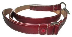 Coach Coach Leash Red Patent Leather Grommets SZ L