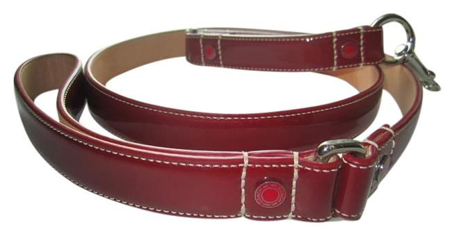 Coach Red L Patent Leather Grommets Coach Red L Patent Leather Grommets Image 1