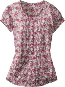 Cabela's Floral Cotton Summer Soft New Top Pink