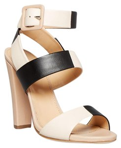 Sergio Rossi Beigh black nude Sandals