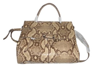 Kooba Versatile Print Satchel in Beige/Brown/Taupe