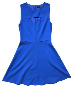 French Connection Fit And Flare Mini Royal Dress