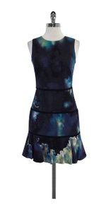 Nicole Miller short dress & Grey Abstract Print Silk on Tradesy