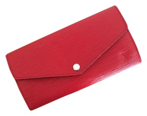 Louis Vuitton Brand New Louis Vuitton SARAH WALLET RED Conquelicot Epi Leather
