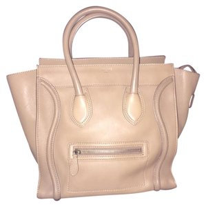 Céline Mini Luggage Tan Brown Shoulder Bag