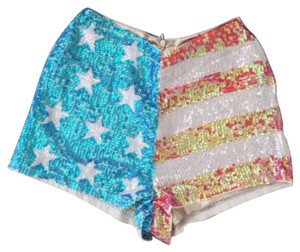Wildfox Mini/Short Shorts red white and blue