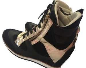 elena chi black gold Wedges
