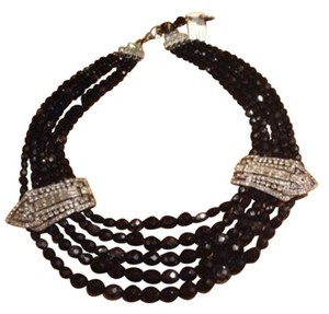 Ben Amun Ben Amun Sterling And Onyx & Cz Choker