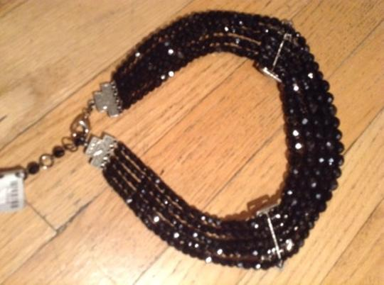 Ben-Amun Ben Amun Sterling And Onyx & Cz Choker