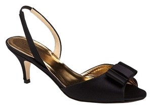 Kate Spade Bow Slingback Pumps Black Sandals