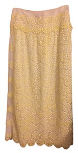 Tory Burch Skirt Yellow/White