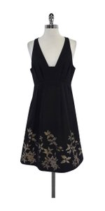 Tibi short dress Black Taupe Floral Print on Tradesy