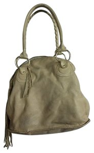 Le'Bulga Bulga Womens Leather Casual Handbag Purse Satchel in Beige