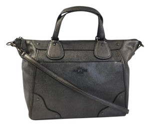 Coach Satchel in Gunmetal