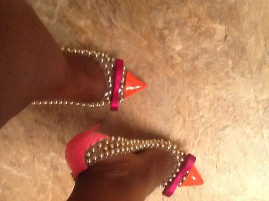 Christian Louboutin Studded Balls Pigalle Multi pink/peach Pumps