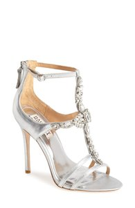Badgley Mischka Badgley Mischka Giovanna Satin Ankle Strap Sandal Wedding Shoes