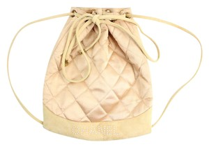 Chanel Pearl Limited Edition Satin Suede Backpack