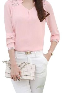Other P2302 Long Sleeve Button Down Shirt pink