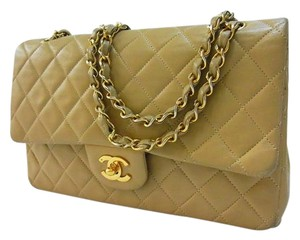 Chanel Ghw Tan Brown Shoulder Bag