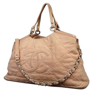 Chanel Quilted Chain Satchel Jumbo Shoulder Bag