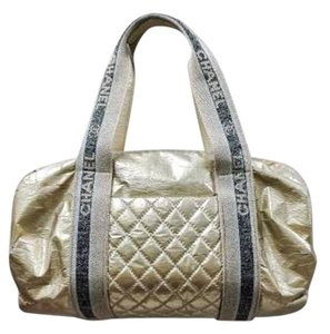 Chanel Speedy Barrel Duffle Satchel in Gold
