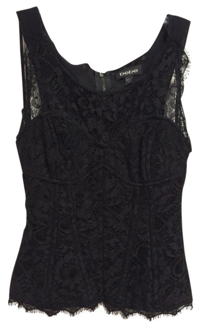 bebe Date Night Lace Lace Trim Boning Sexy Hot Fun Classy Lacey Spring Summer Winter Fall Top Black