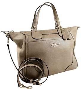 Coach Mickie Designer Sale Outlet Satchel in Beige