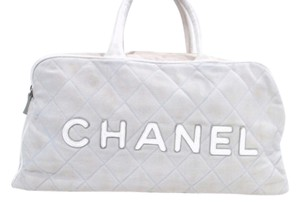 Chanel Duffle Keepall Speedy Satchel in grey