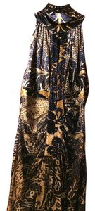 Roberto Cavalli Soft Velvet Sleeveless Silk Dress