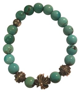 Chrome Hearts turquoise and silver bead