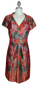 Banana Republic Silk A-line V-neck Dress