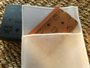 MCM MCM BUSINESS/ CREDIT CARD WALLET VISETOS PATTERN COGNAC