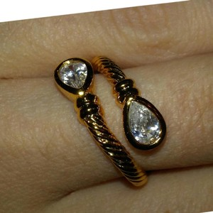 Gold Plated Twin Ring Size 9