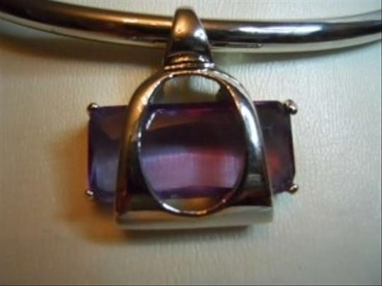 unknown Amethyst faceted stone necklace