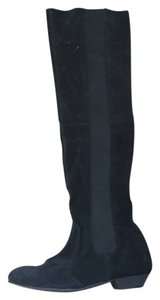 Topshop Suede Thigh High black Boots