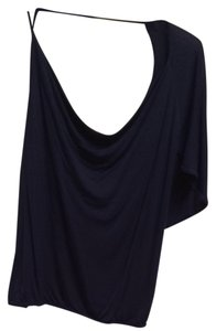bebe Navy Navy Nautical Going Out Casual Date Night Summer Spring Sexy Open Open Back Top Blue
