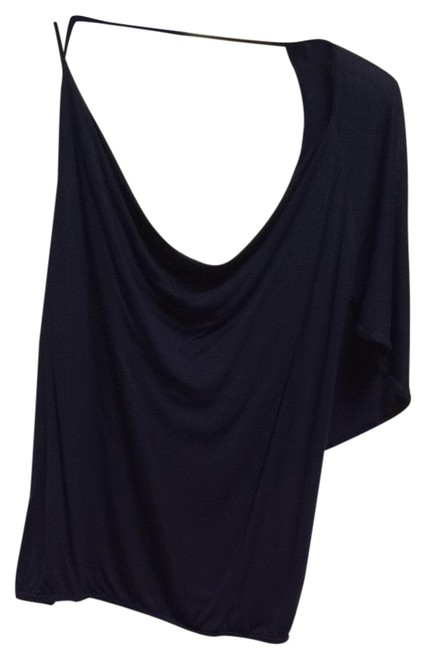 bebe Navy Navy Nautical Going Out Casual Date Night Summer Spring Sexy Open Shoulder Open Back Top Blue