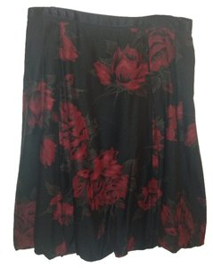 Ann Taylor Skirt Black And Deep Red