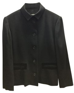 Barneys New York Velvet Dressy Black Blazer