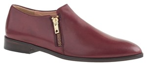 J.Crew Loafers Leather Zippers Flats Burgundy Boots