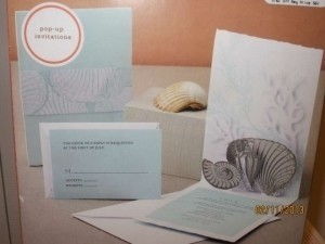 Seaside Invitation Suite And Seaside Favors With Place Card Labels